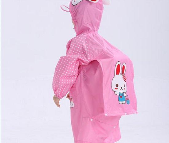 带有书包位的儿童雨衣