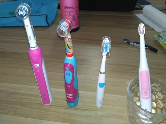 各种类型的电动牙刷