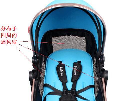 婴儿车的通风窗