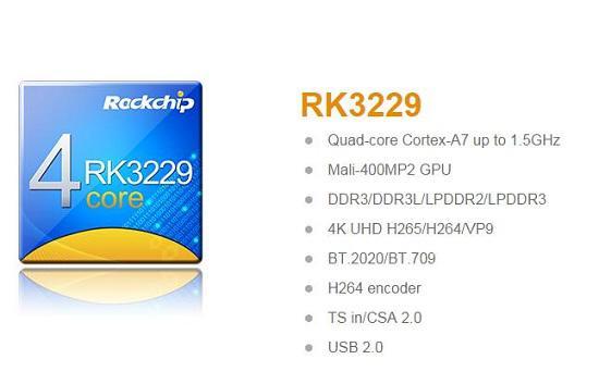 瑞芯微3229处理器基本信息