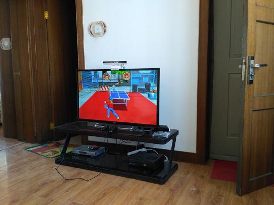 小霸王G80上的《乒乓达人》体感游戏