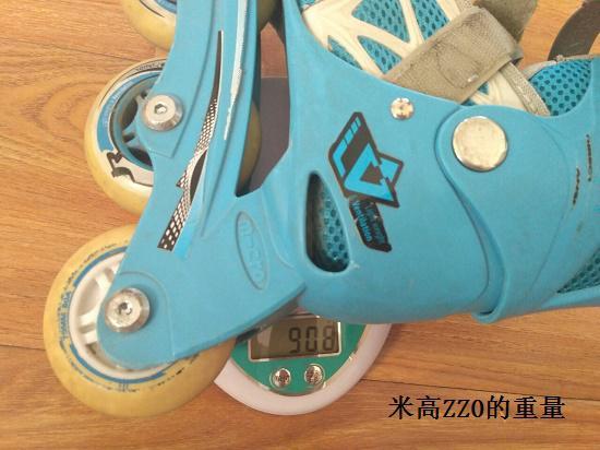 米高轮滑鞋的重量