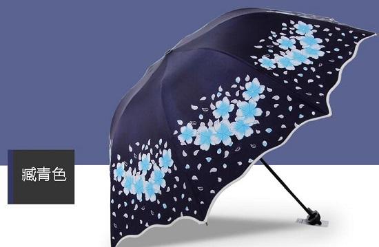藏青色遮阳伞