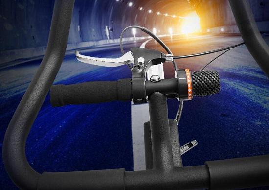 类似于山地自行车的阻力调节和刹车
