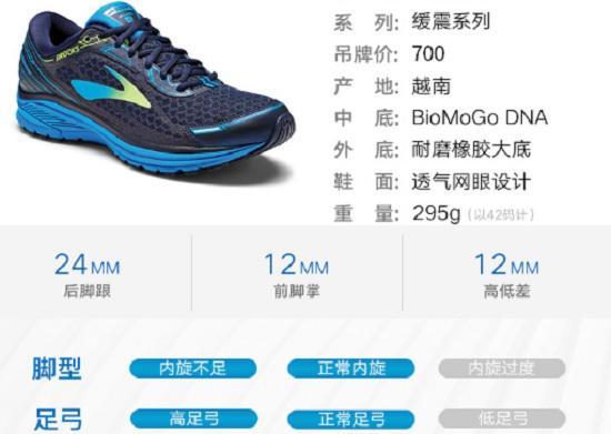 布鲁克斯跑步鞋的产品说明