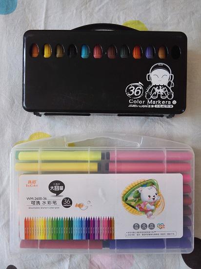 真彩与雄狮水彩笔哪个好用?