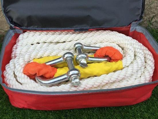 圆形拖车绳