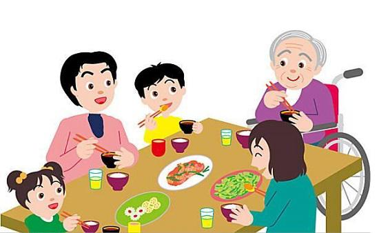 全家人进餐