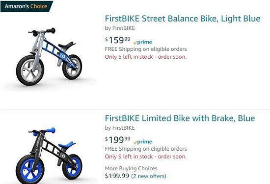 美亚的firstbike滑步车报价