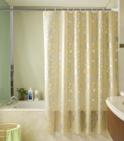 用免打孔窗帘杆充当浴帘杆