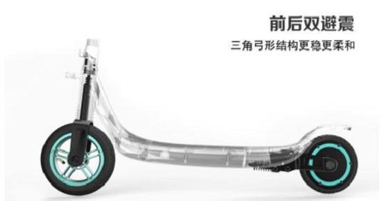 半驴电动滑板车的减震装置