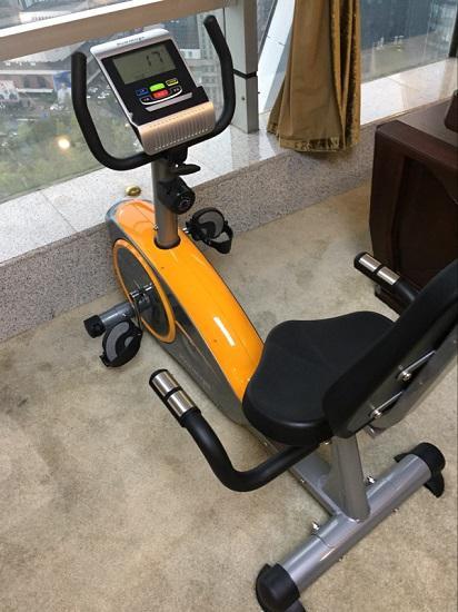 带座椅和靠背的磁控式健身车
