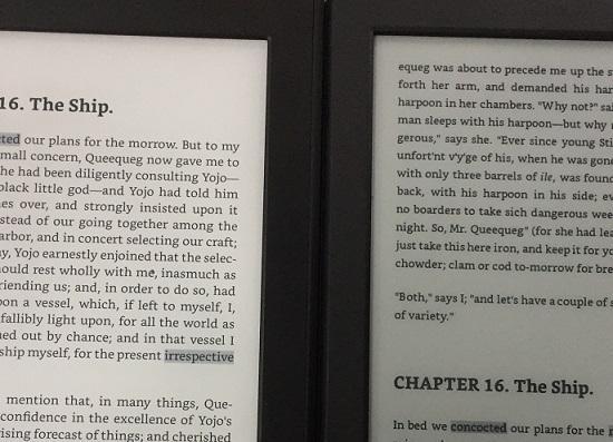 有阅读灯(左)和无阅读灯(右)的区别