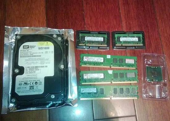硬盘、内存条和CPU