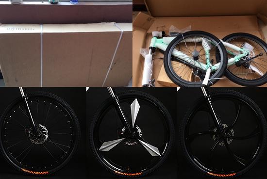 吉普绅自行车几种不同的轮毂