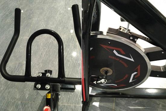 几百元动感单车简单的外观