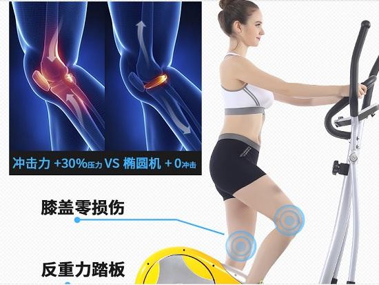 椭圆机对膝盖损伤小