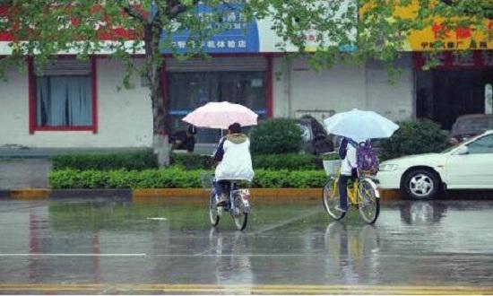 下雨天骑自行车