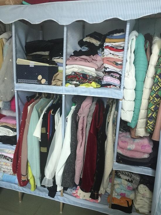组装好的布衣柜