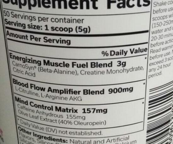 某健身补剂的主要成分