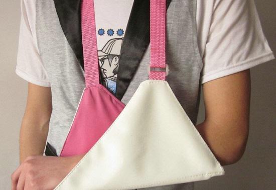 三角巾悬吊