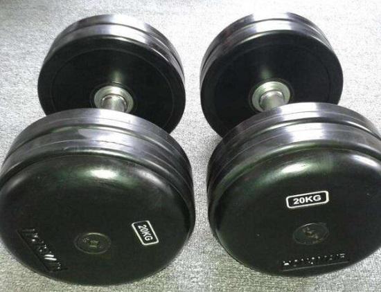 20公斤金属包胶哑铃